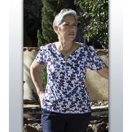 T shirt femme senior TALYNA imprimé