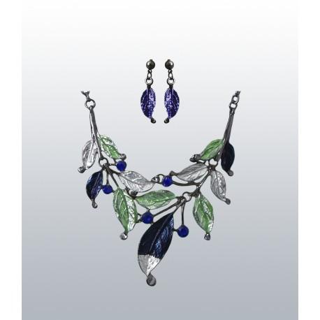 PARURE FEUILLES femme bijoux cadeau