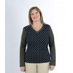 T shirt femme senior TREXIA bicolore