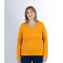 T shirt femme senior TRISCA ocre