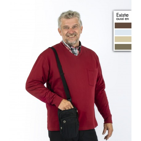 T shirt homme senior manches longues SIMON