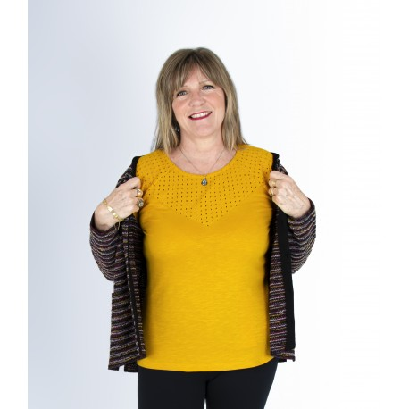 T shirt  femme senior THEMIS coton
