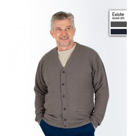 Gilet acrylique GUILLAUME homme senior