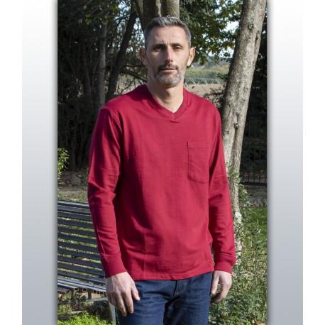 T shirt homme senior manches longues médicalisé