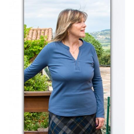 T shirt femme senior TAHIRA coton