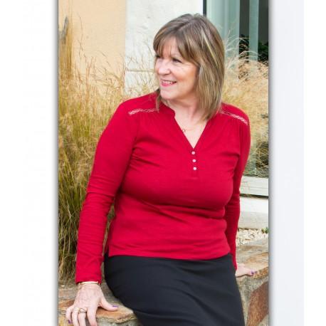 T shirt femme senior TONIA coton
