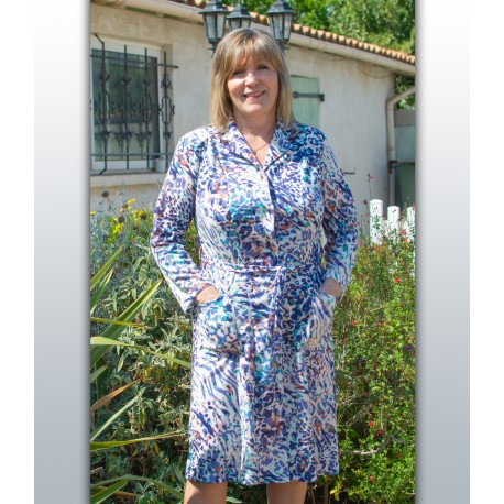 Robe boutonnée femme senior RAFAELA