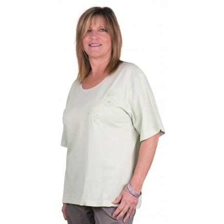 T shirt femme THIYA vert